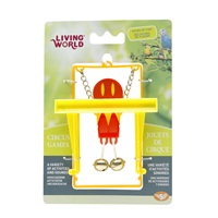 Living World Circus Bird Toy with Monkey Bar - Red