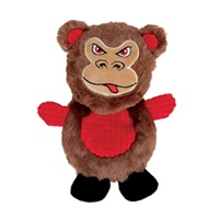 Dogit Stuffies Dog Toy – Flat Friend - Monkey - 19 cm (7.5 in)