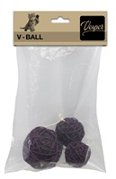 Vesper V-Ball - Brown Rattan - 5/6/8 cm