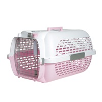 Dogit Voyageur Dog Carrier- Pink/White, Medium (56.5 cm L x 37.6 cm W x 30.8 cm H / 22in x 14.8in x 12in).