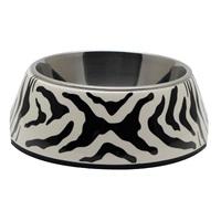 Catit Style  2-in-1 Cat Dish - White Tiger Pattern, Small  (360 ml / 11.8 fl oz)