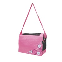 Dogit Style Nylon Messenger Dog Carry Bag, Aloha, Pink (for small dogs up to 9kg/20lbs)