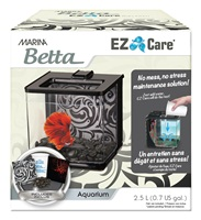 Marina Betta EZ Care Aquarium - Black - 2.5 L (0.7 US Gal)