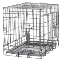 Dogit Two Door Wire Home Crates with divider - XSmall - 46.5 x 31 x 37 cm (18.2 x 12 x 14.5 in)