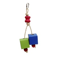 LW Festive Favors,Rope,Wood & Paper Box Toy, 20 cm