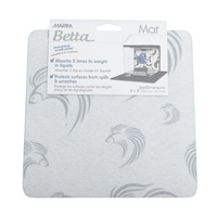 "Marina Betta Mat White/Grey 8"" x 8"""