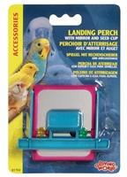 Living World Landing Perch Feeder with Mirror & Beads