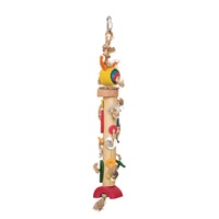 HARI Rustic Treasures Bird Toy Braided Bamboo Tower - Large