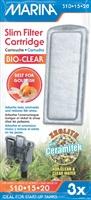 Marina Bio Clear Cartridge for Slim Filters, 3 pack