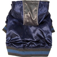 Dogit Style Fall/Winter 2011 Small Dog Clothing Collection -  Metallic Hoodie, Blue, Large