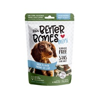 Zeus Better Bones - Milk Flavor - Chicken-Wrapped Mini Bones - 12 pack