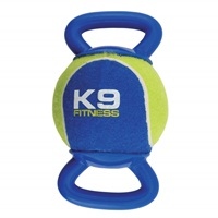 K9 Fitness by Zeus X-Large Tennis Ball with Double TPR Tug - 12.7 cm dia. (5 in dia.)