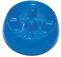 Dogit Go Slow Anti-Gulping Dog Dish, Blue, Xsmall (140ml/4.7 fl oz)