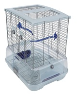Vision Bird Cage for small birds (S01) - Small Wire, single height - 45.5 x 35.5 x 51 cm (18 L x 14 W x 20 in H)