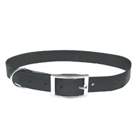 "Dogit Double Ply Nylon Dog Collar with Buckle- Black, XLarge (56cm/22"")"