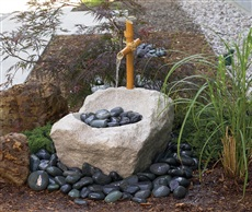 "Oriental Boulder with Fountain, 25"" x 22"" x 16"""