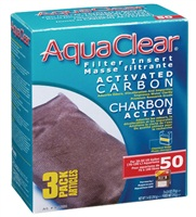 AquaClear 50 Activated Carbon Filter Insert 3 pack, 210g (7.4 oz)