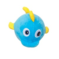 Dogit Stuffies Dog Toy - Plush Ball Blue Whale - 10 cm (4 in dia.)