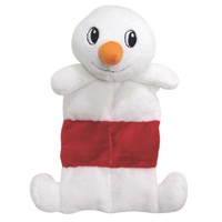 """Dogit Christmas 2012 Small Dog Toy & Apparel Collection - Mat Toy with squeaker (25.5 cm / 10""""), Snowman"""