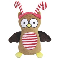 "Dogit Christmas 2012 Small Dog Toy & Apparel Collection - Owl Plush Toy with squeaker (16.5 cm / 6.5""), Brown"