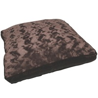 "Dogit Style Square Mattress Dog Bed-Elastic UltraSuede, Brown, Small. 64cm x 64cm x 12.7cm (25"" x 25"" x 5"")."