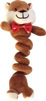 Dogit Christmas Luvz Dog Toy - Bungee Toy, Chipmunk