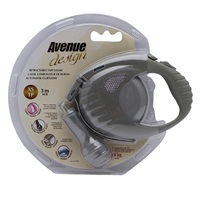 Avenue Dog Retractable Tape Leash, Warm Gray, Extra Small (3m/10ft)