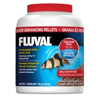 Fluval Colour Enhancing Medium Sinking Pellets, 150 g (5.29 oz)