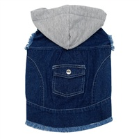 Dogit Fall/Winter 2011 Dog Clothing Collection - Hooded Denim Jacket, Dark Blue, X-Large