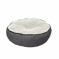 Dogit DreamWell Dog Mattress Bed - Round - Gray/White - 50 cm dia (19.5 in)