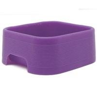 Dogit Style Square Silicone Dog Bowl, Purple, 350mL (11.8 oz)