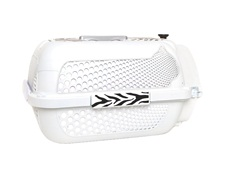 Catit Style Profile Voyageur Cat Carrier - White Tiger, Medium (56.5 cm L x 37.6 cm W x 30.8 cm H / 22in x 14.8in x 12in)