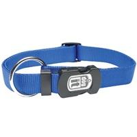 Dogit Single Ply Adjustable Nylon Dog Collar with Snap- Blue, Large