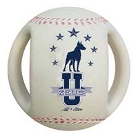 "Zeus Varsity Baseball Dog Toy - 4.5"""