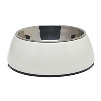 Dogit 2-in-1 Dog Dish, Small-White. Holds 350 mL (11.8 fl oz)