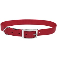 "Dogit Double Ply Nylon Dog Collar with Buckle - Red - XLarge - 61 cm (24"")"