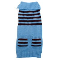 Dogit Fall/Winter 2011 Dog Clothing Collection - Striped Sweater, Ice Blue, XX-Large