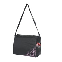 Dogit Style Nylon Messenger Dog Carry Bag, Urban, Black (for small dogs up to 9kg/20lbs)