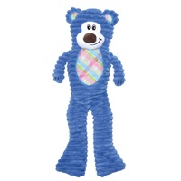 Dogit Stuffies Dog Toy - Corduroy Plush & Crinkle Blue Bear - 40.5 cm (16 in)