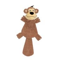 Dogit Stuffies Dog Toy – XL Flat Friend - Monkey - 49 cm (19.5 in)