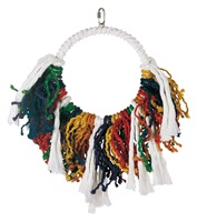 Living World Junglewood Bird Toy, Jumbo Rope Dream Catcher with Hanging Clip