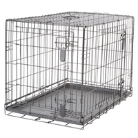 Dogit Two Door Wire Home Crates with divider - Medium - 77 x 48 x 54.5 cm (30 x 19 x 21.5 in)
