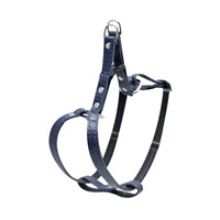 "Dogit Style Adjustable Step-in Leather Dog Harness - Blue, 10mm x 23cm-38cm (3/8"" x 9"" - 15"")"