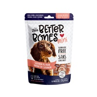 Zeus Better Bones - Salmon Flavor - Chicken-Wrapped Mini Bones - 12 pack