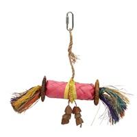 HARI Rustic Treasures Bird Toy Buri Wrap Color - Large