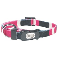 Dogit Style Nylon Print Dog Collar-Cobra, Pink, Xsmall (Teacup Size)