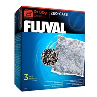 Fluval Zeo-Carb for C3 Power Filters,  3 Pack