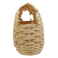 Living World  Bamboo Bird Nest for Finches, Small