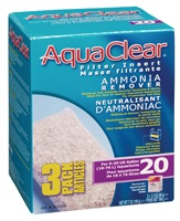 AquaClear 20 Ammonia Remover Filter Insert 3 pack, 198g (7oz)