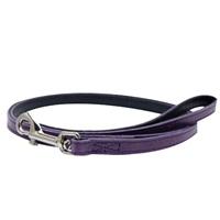 "Dogit Style Leather Dog Leash - Purple, 13mm x 1.2m (1/2"" x 48"")"